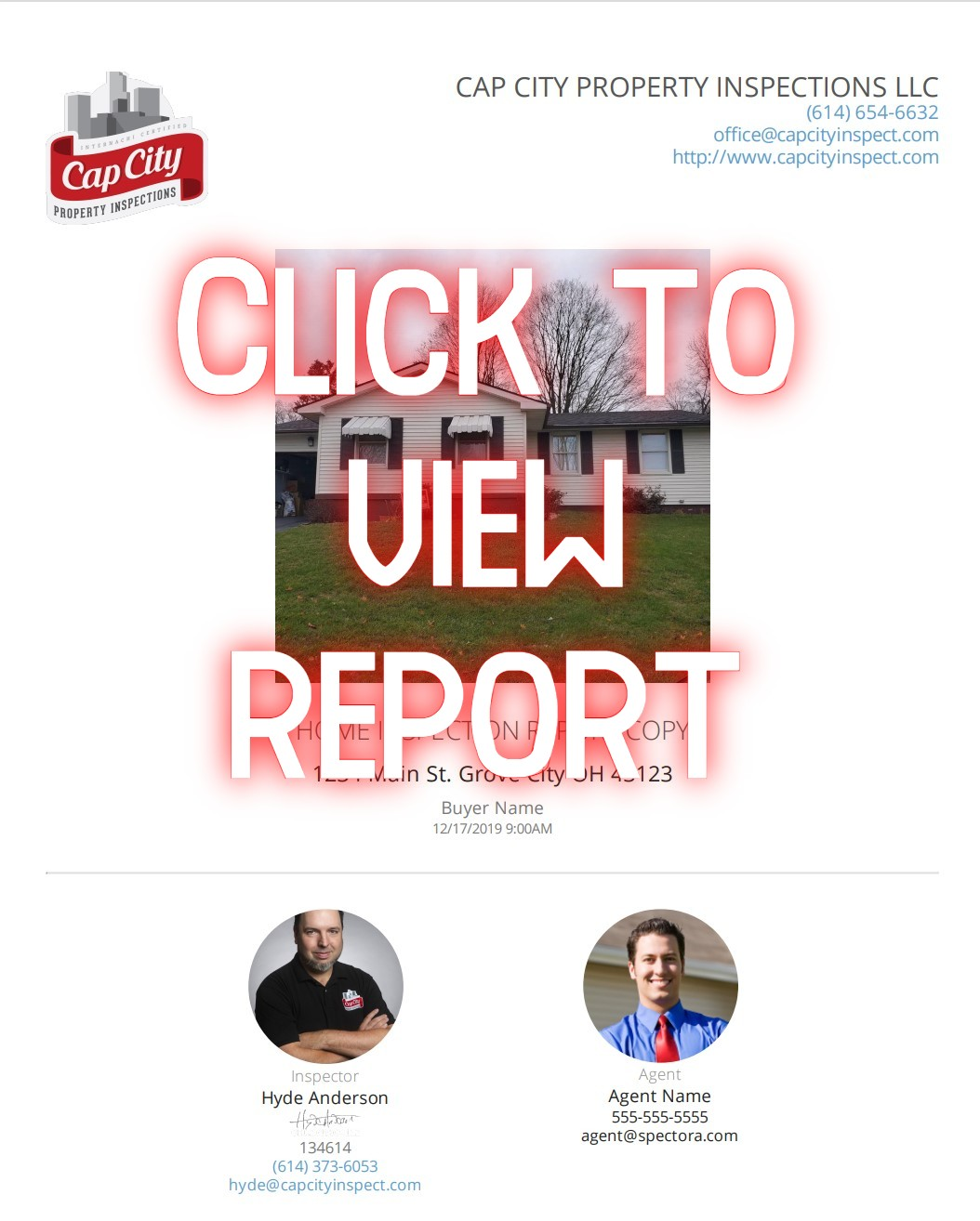 Home Inspection Columbus Ohio Sample Report Cover